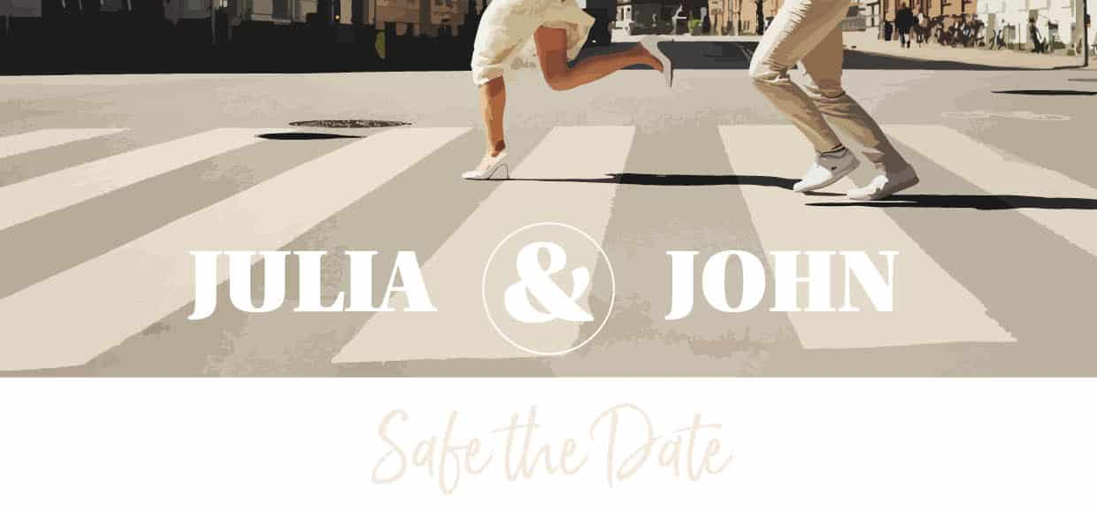 Hochzeitsdesign Chic and Casual Save the Date