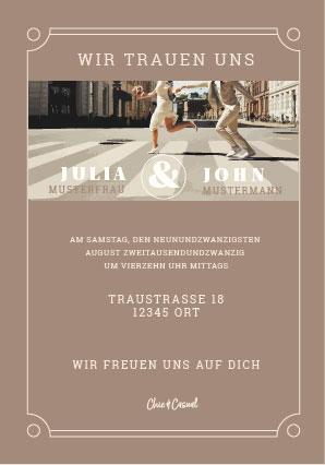 Hochzeitsdesign Chic and Casual Einladung