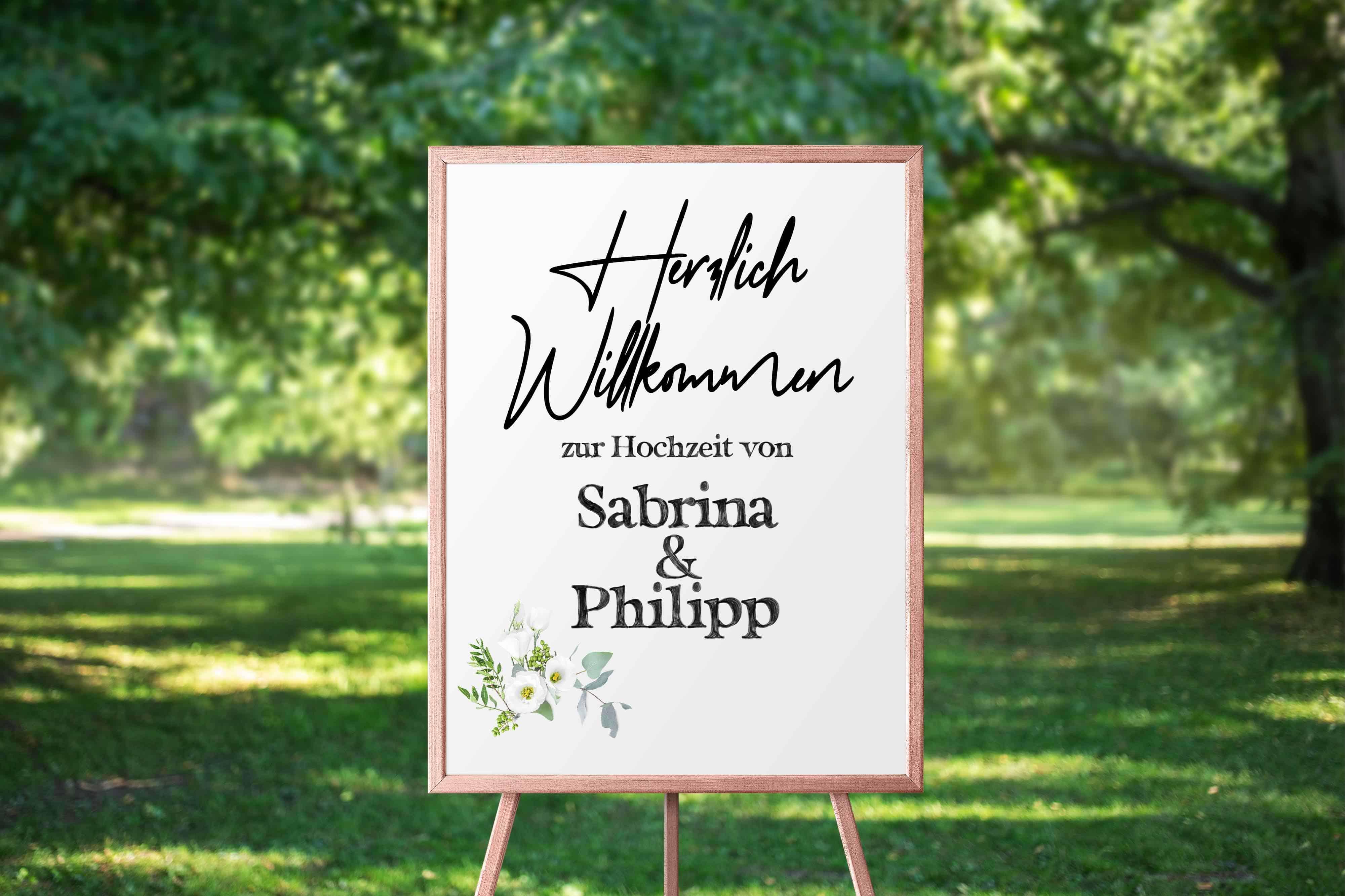 Hochzeitsdesign Waldhochzeit Plakat