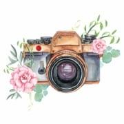 Hochzeitstrends Illustration Kamera