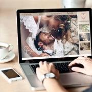 Beispiel für eine Hochzeitswebseite