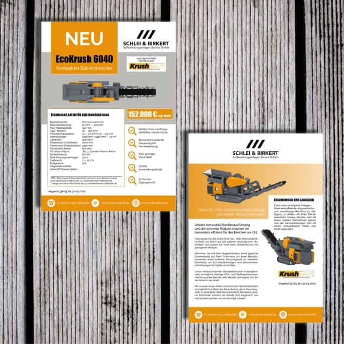 Firmendesign Flyer