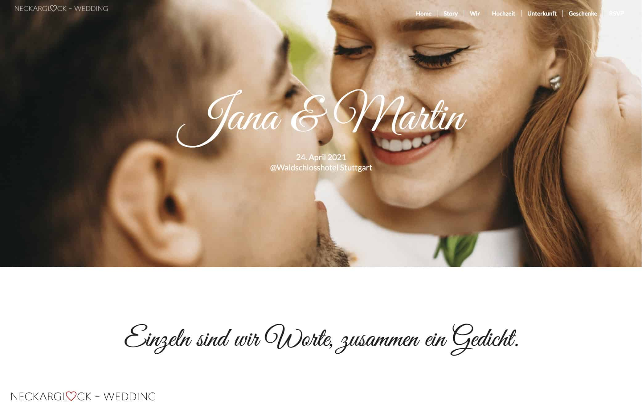 Impressionen Wedding-Website