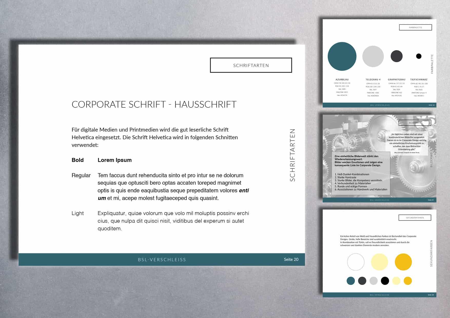 Corporate Design | Branding: B.S.L. Verschleißschutz und Stahlbau GmbH