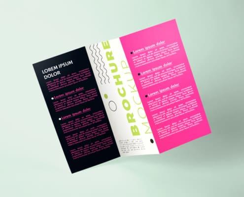 Firmendesign | Design to go Faltblatt